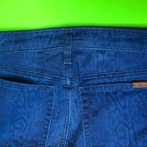 Joes Jeans   blue snake skin print